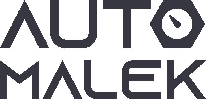 Tmavé logo autoservis Auto Málek pro stránku kontakt